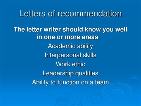 Recommendation Letter Interpersonal Skills Ppt Of Washington School Of Medicine Powerpoint Presentation Id 156051