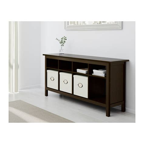 Hemnes Console Table Black Brown 157x40 Cm Ikea Sofa Table Ikea