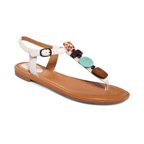 clarks white sandals clarks artisan indira pompano flat sandals in white