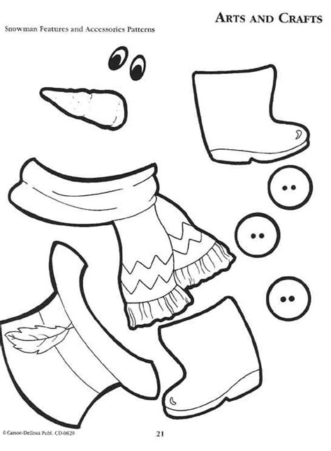 snowman templates to cut out 6 best images of printable parts patterns free