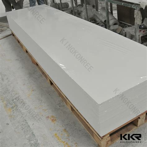 Solid Surface Corian sell artificial modified acrylic solid surface for table tops kingkonree international
