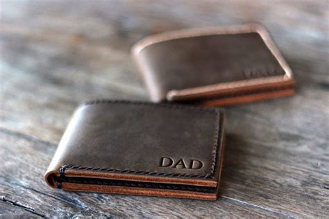 Handmade Leather Gifts - handmade mens leather bifold wallet joojoobs