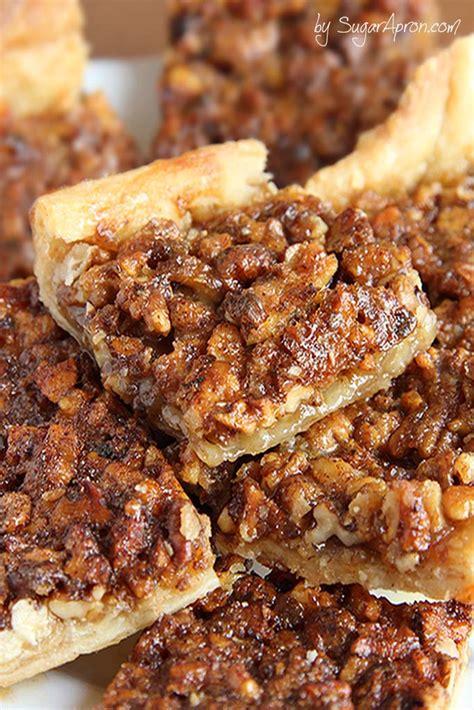 easy pecan pie bars sugar apron
