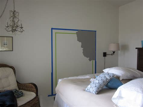 Headboard On Wall by Do Something Creative Daily The Wall Painted Headboard