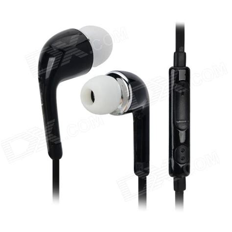 Earphone Samsung S5 j5 3 5mm in ear earphone w mic for samsung galaxy s5 black free shipping dealextreme