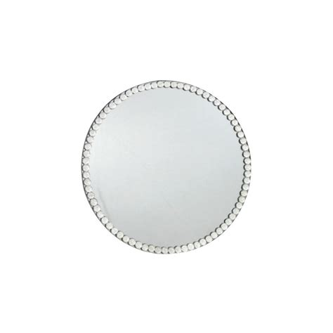 Large Candle Plate Gem Mirror Large Candle Plate