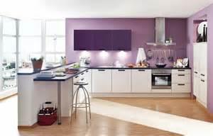 Formidable Exemple De Cuisine Ouverte #6: id%C3%A9e-tr%C3%A8s-jolie-couleur-peinture-cuisine-lilas-meubles-buisine-blancs-d%C3%A9cor-fantastique.jpg