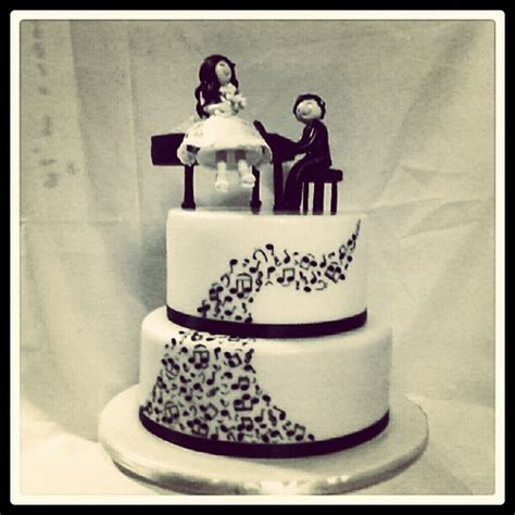 Wedding Cake Year Later by Cake Of The Year Musical Theme Wedding Cake Will P
