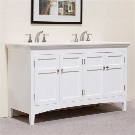 White 60 Inch Vanity by Shop Marble Top White 60 Inch Sink Vanity Free
