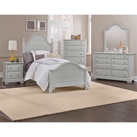 Vaughan Bassett Cottage Collection White by Vaughan Bassett Cottage Panel Bed Dunk Bright