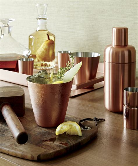 crate and barrel barware the best new serving pieces for fall
