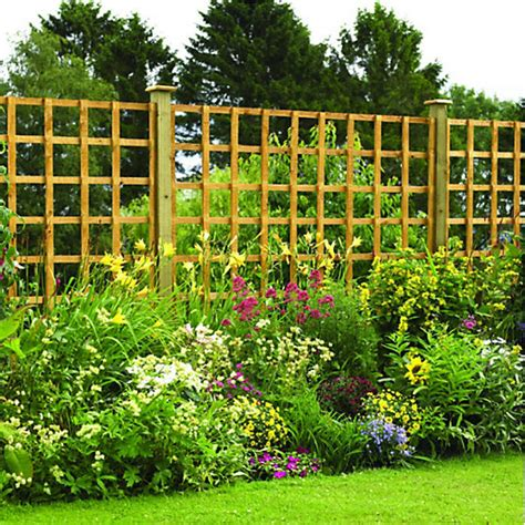 Cheap Fence Trellis Wickes Fence Panel Trellis Square Lattice Autumn Gold 1 83