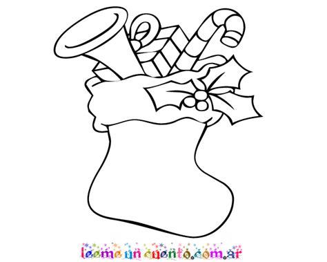 dibujos de navidad para colorear botas dibujo de media con dulces para colorear imprimir bota