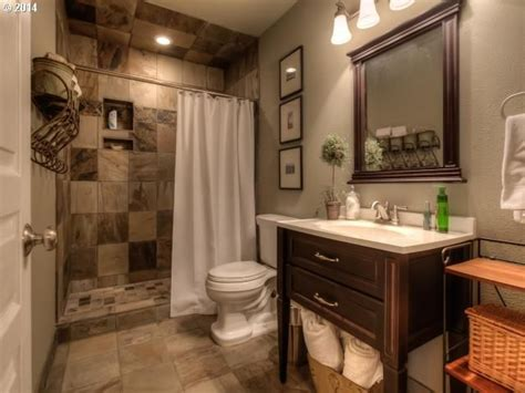 traditional 3 4 bathroom with high ceiling flush in