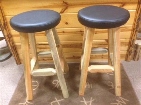Handmade Log Furniture - bar stool custom handmade log furniture
