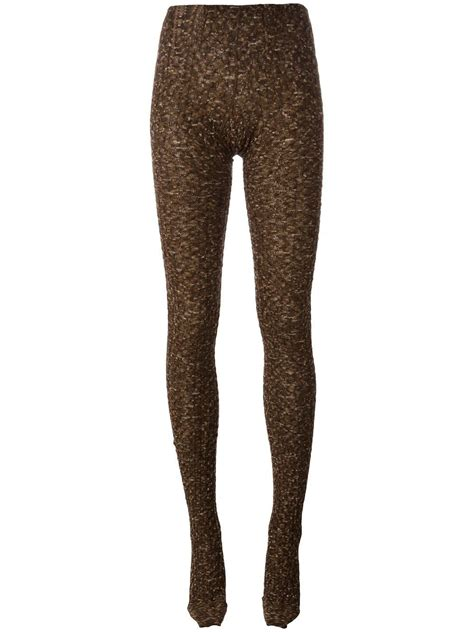 knitted tights missoni knitted tights in brown lyst