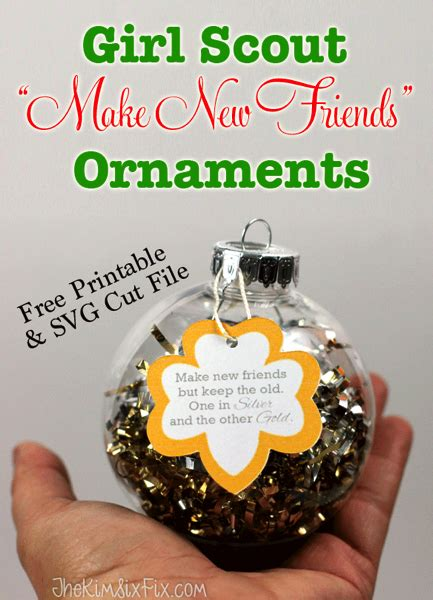 girl scout holiday ornaments craft easy diy scout make new friends ornaments png