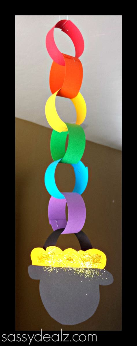 S Day Paper Crafts - rainbow chain craft for st s day crafty morning