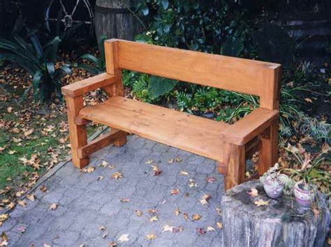 Backyard Bench Ideas Wooden Bench Design Ideas Woodproject