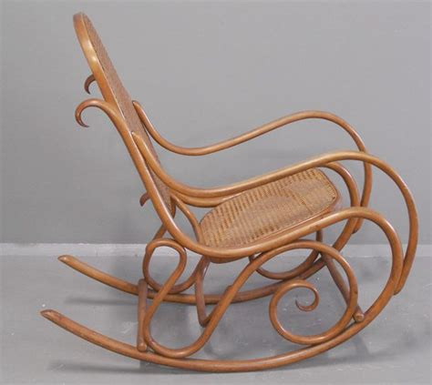 Antique Thonet Bentwood Rocking Chair by Gebruder Thonet Bentwood Rocking Chair Number 7025