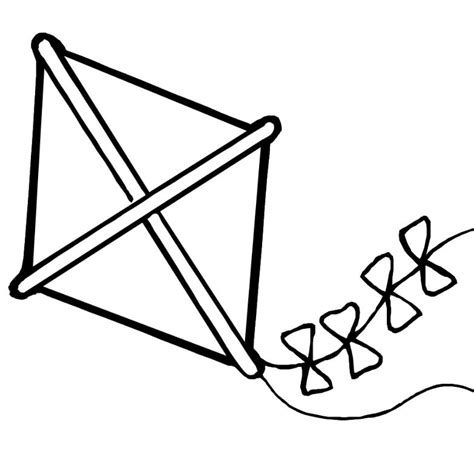 Free Printable Coloring Page Of A Kite | free printable kite coloring pages for kids