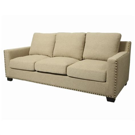 cream linen sofa pastel furniture aymara sofa linen nailhead standard