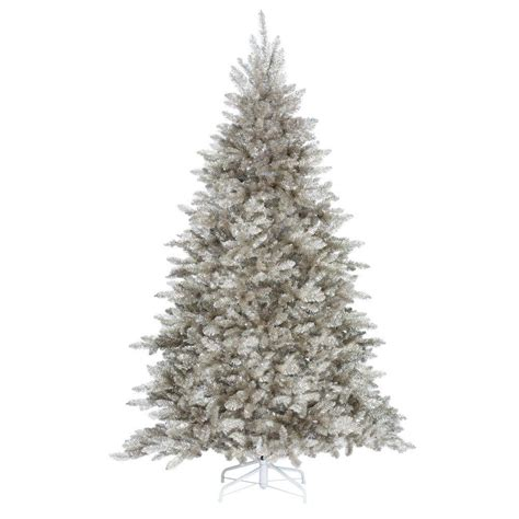 Home Decorators Christmas Trees | home decorators collection 7 5 ft pre lit sterling tinsel