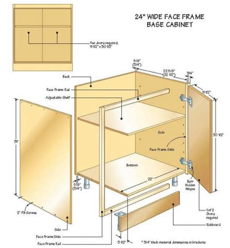 how to build kitchen cabinets free plans buildingbasecabinets illustration2 hickory kitchen