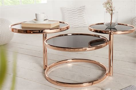 glazen salontafel met koper ronde glazen salontafel aktie wonen nl
