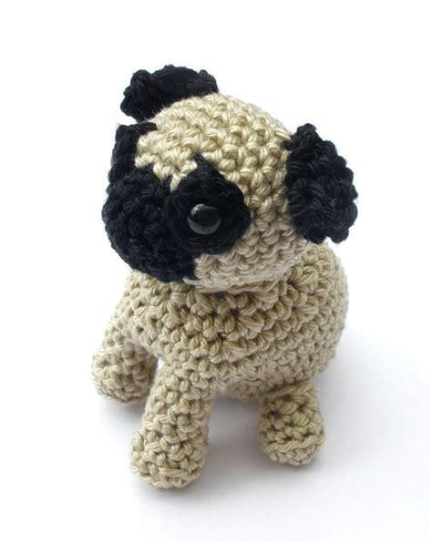 pug stuffed animal pug stuffed animal crochet pug amigurumi pug pug lover gift