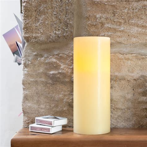 battery taper candles uk large chapel battery pillar candle with timer lights4fun co uk