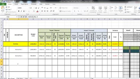 project flow chart exle create gantt chart and flow using excel
