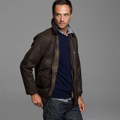 j crew barbour sylkoil bedale jacket in brown for lyst