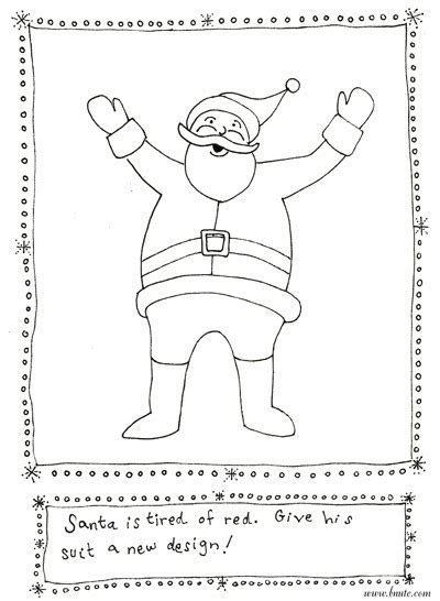 printable santa outfit bnute productions more christmas printable art activities