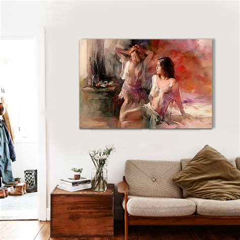 sexy home decor whole sexy lady oil painting hand painted painting oil on