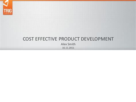 Home Births More Cost Effective Alex Smith Quot Cost Effective Product Development Quot