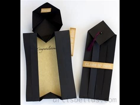 Origami Mortar Board - how to make a graduation card box that