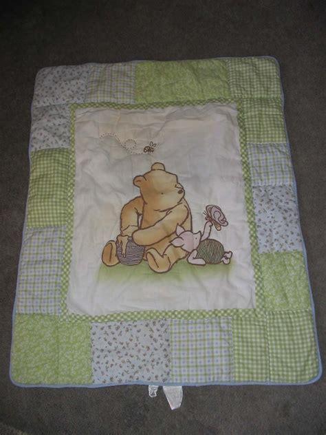Winnie The Pooh Crib Blanket classic winnie the pooh baby crib blanket gender neutral