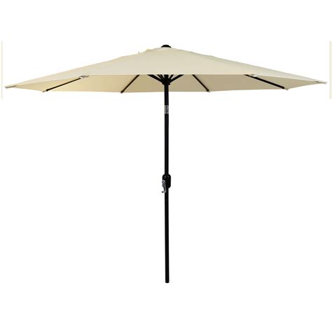 Metal Patio Umbrella Charles Bentley Garden Metal Patio Umbrella Parasol With Crank Tilt Colours Ebay