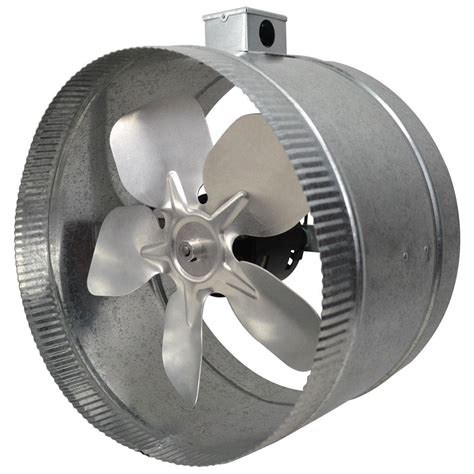 inductor 12 in 4 pole in line duct fan with electrical