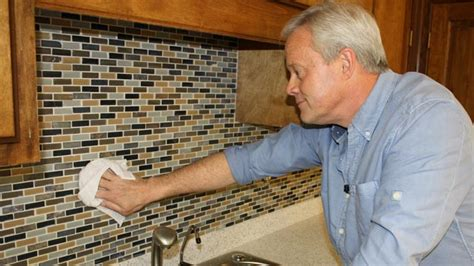 how to install a glass tile backsplash in the kitchen how to install a mosaic tile backsplash today s homeowner