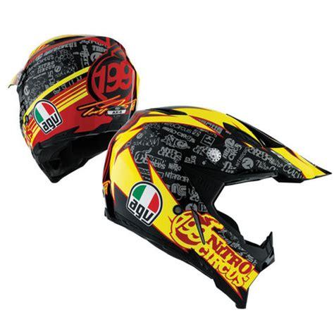 agv motocross helmet 399 95 agv ax 8 travis pastrana 199 nitro circus helmet