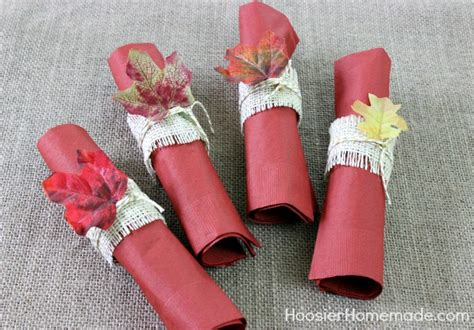 simple diy napkin rings  thanksgiving tablescape