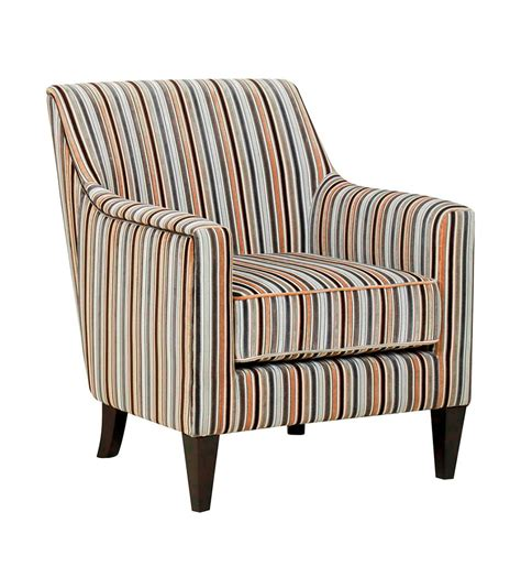Fabric Accent Chair Gfa Bloomsbury Silver Stripe Fabric Accent Chair