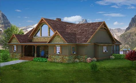 adirondack house plan mountain craftsman