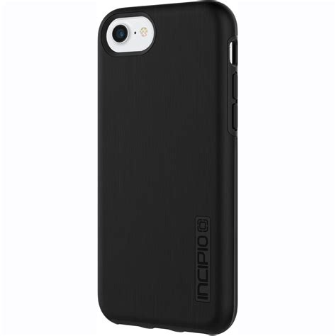 incipio dualpro shine for iphone 7 black iph 1466 blk b h