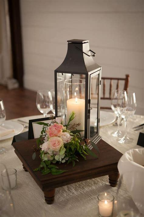 iron lantern reception centerpiece