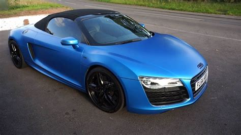 audi r8 wrapped 2014 64 audi r8 spyder v10 matt blue wrapped for sale