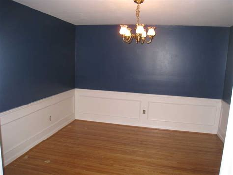 home remodeling wainscoting home depot with blue walls