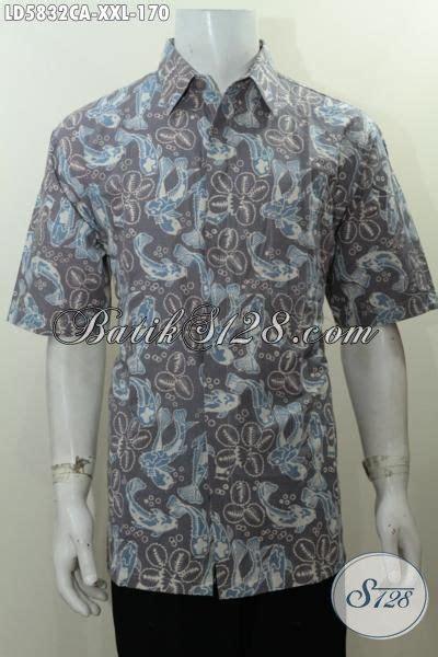Batik Hem Ikan hem batik modis cap warna alam motif ikan pakaian batik 3l warna kalem bahan adem nyaman di